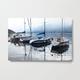 Boats on Lake Garda Metal Print