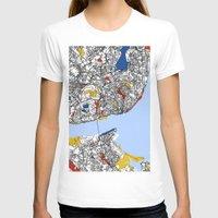 mondrian T-shirts featuring Lisbon mondrian by Mondrian Maps