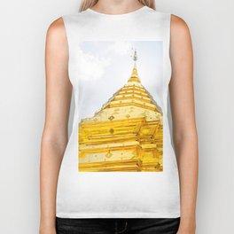 Golden Stupa Biker Tank