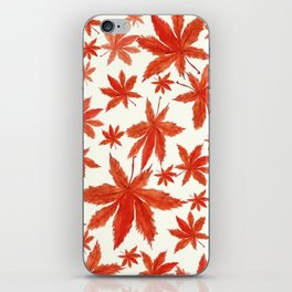 red maple leaves pattern iPhone Skin