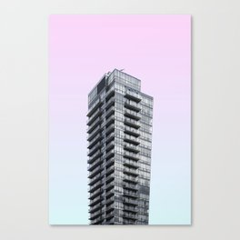 Architecture and Candy Sky Canvas Print