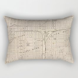 Vintage Map of Terre Haute Indiana (1876) Rectangular Pillow