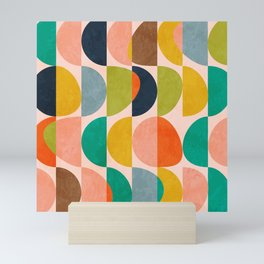 shapes abstract II Mini Art Print