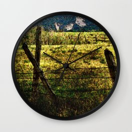 Old Fences Tell A Tale #2 Wall Clock