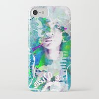 erykah badu iPhone & iPod Cases featuring Ode To Badu by Jennifer Torres