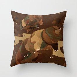 Tardigrade Enjoys Coffee Throw Pillow