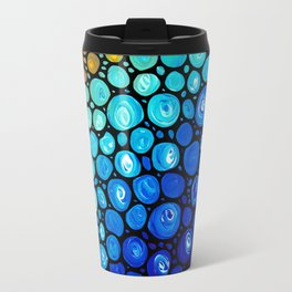 Abstract 2 - Colorful Original Art Painting by Sharon Cummings Primary Colors Travel Mug