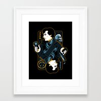 221b Framed Art Prints featuring The Detective of 221B by WinterArtwork