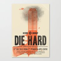 die hard Canvas Prints featuring Die Hard (Full poster variant) by Wharton