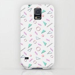 Cool 90s Pastel Memphis Shape Pattern iPhone Case