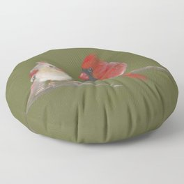 Pastel Cardinals Floor Pillow