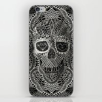 hell iPhone & iPod Skins featuring Lace Skull by Ali GULEC