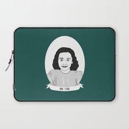 Anne Frank Illustrated Portrait Laptop Sleeve