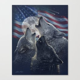 Wolf Trinity America Canvas Print