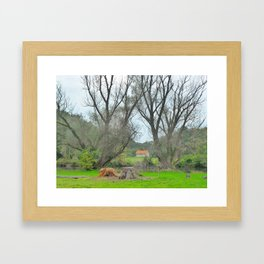 Green World II. Framed Art Print