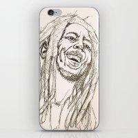 marley iPhone & iPod Skins featuring Marley by Deelara