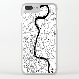 London Minimal Map Clear iPhone Case