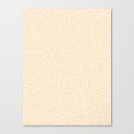 Melange - White and Sunset Orange Canvas Print