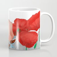 dorothy Mugs featuring Dorothy & the poppies by _JC_