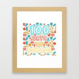 100 Days Of School Sports T-Shirt Sports Framed Art Print