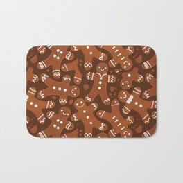 Gingerbread Man Pattern Bath Mat