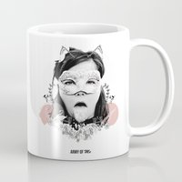 bjork Mugs featuring Bjork  by Anfetamina