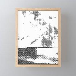 LeProcope_Glitch02 BW Framed Mini Art Print