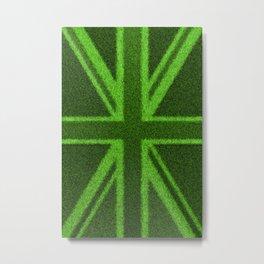 Grass Britain / 3D render of British flag grown from grass Metal Print