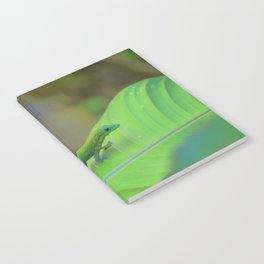 Gecko on a Leaf Notebook