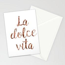 Rose gold La Dolce Vita Stationery Cards