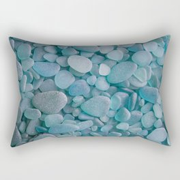 Japanese Sea Glass - Low Tide Blues II Rectangular Pillow