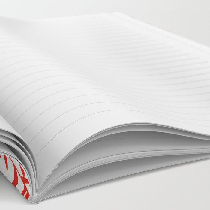 Swedish Dala Horses – Red and Black Palette Notebook