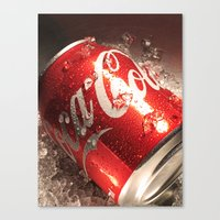 coca cola Canvas Prints featuring Coca Cola by MarianaManina