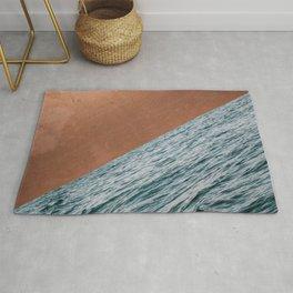 Ocean + Copper #society6 #buyart #decor Rug