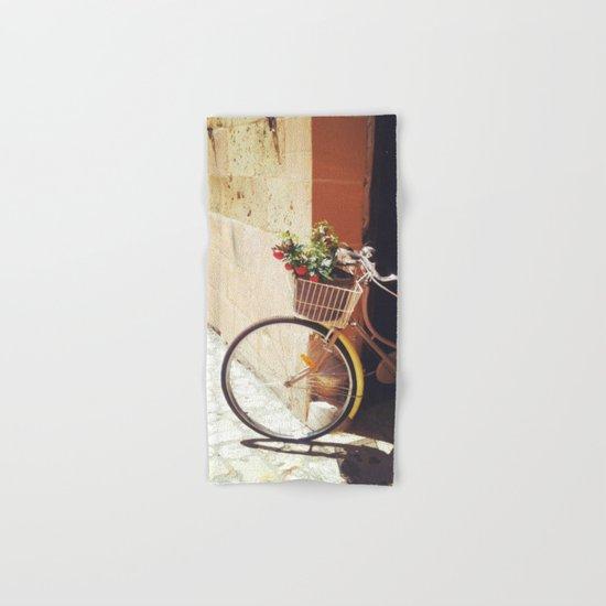 Yellow Bicycle Hand & Bath Towel