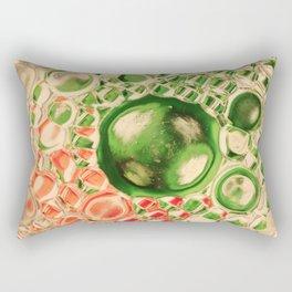 Bubles green Rectangular Pillow