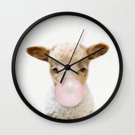 Bubble Gum Baby Lamb Wall Clock