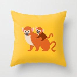Monkey baby Throw Pillow