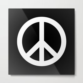 Peace (White & Black) Metal Print