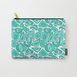 Retro .Turquoise abstraction . Carry-All Pouch