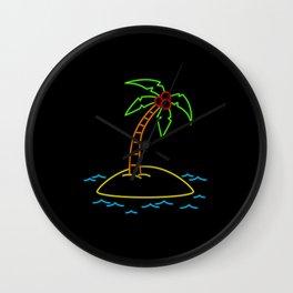 Neon Tropical Wall Clock