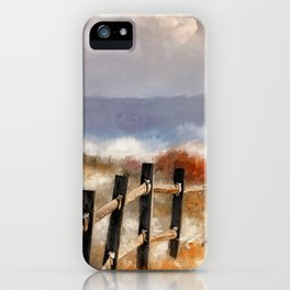 Morning Mists In The Mountain iPhone Case