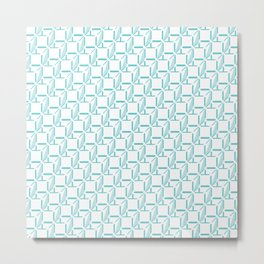 Boxes Pixel Metal Print