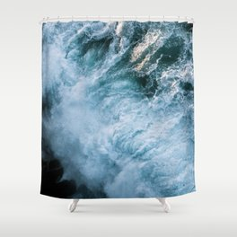Wave in Ireland during sunset - Oceanscape Shower Curtain