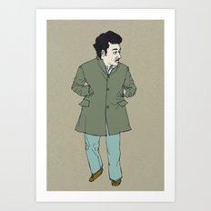 Fall, man Art Print