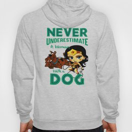 woman with a dog Hoody