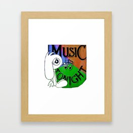 Music Bunny Framed Art Print