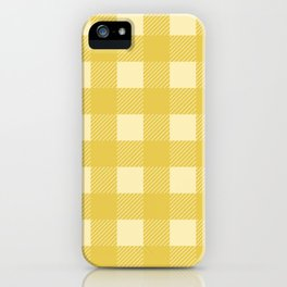 Mustard Yellow Buffalo Checks iPhone Case