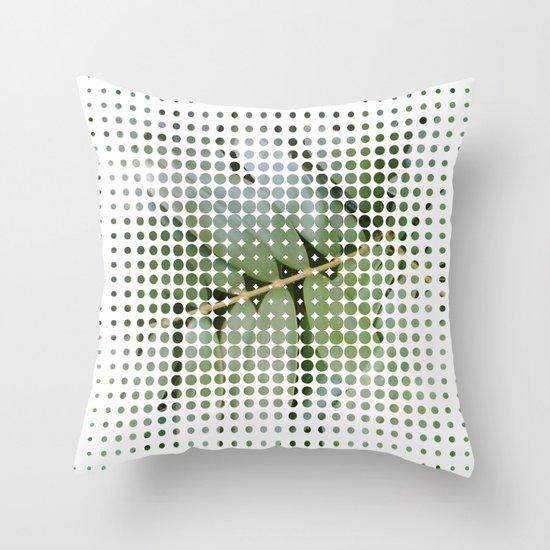 mesh white Throw Pillow