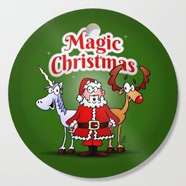 Magic Christmas with a unicorn Cutting Board